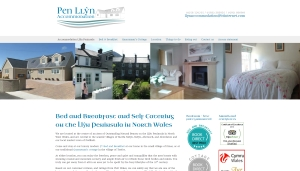 Screen grab of Pen Llyn accommodation website