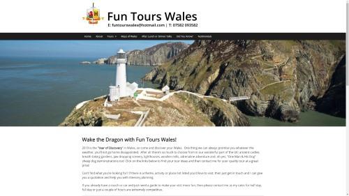 Screen grab - Fun Tours Wales