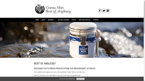 Gorau Mon website by WP Websites Wales