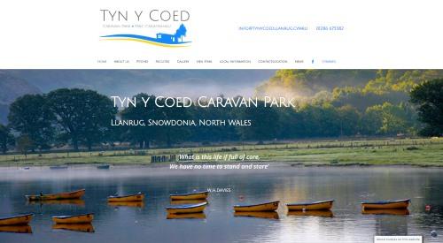 Tyn y Coed website by WP Websites Wales